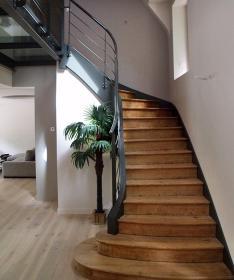Escalier bois métal à Landivisiau